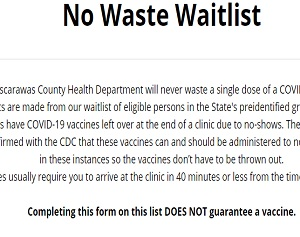 """""""No Waste Waitlist"""" Created for Tuscarawas County"""