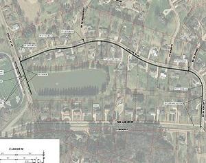 Sidewalk, Curb Project Starts Across from Quaker Stadium